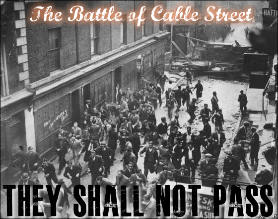 The battle of cable street mural london we are comrades for Cable street mural